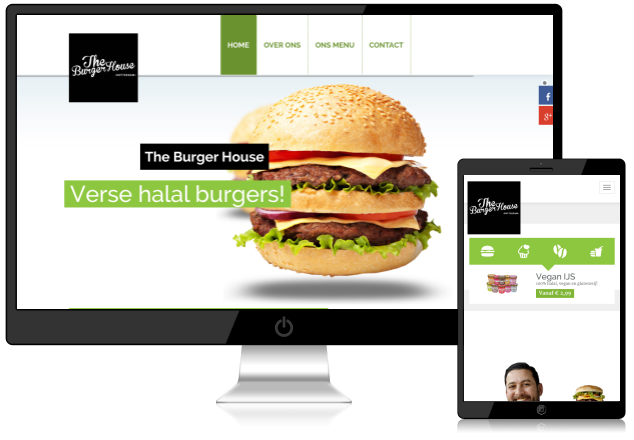 Website The Burger House is live!