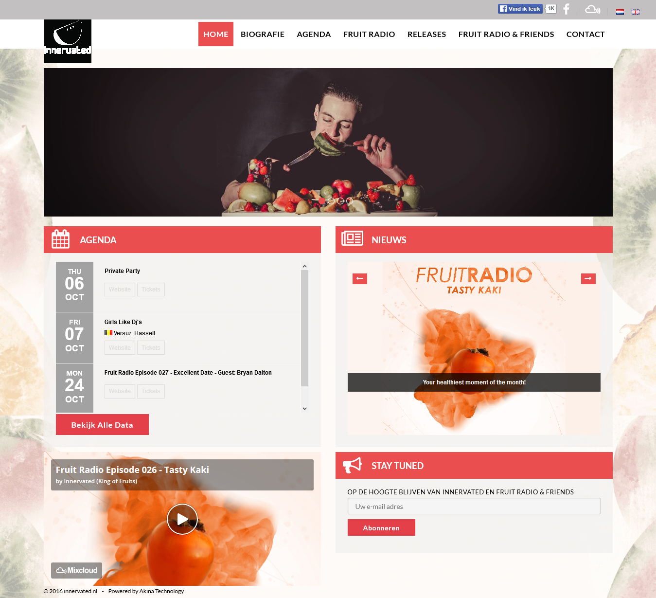 Oplevering DJ website: Innervated