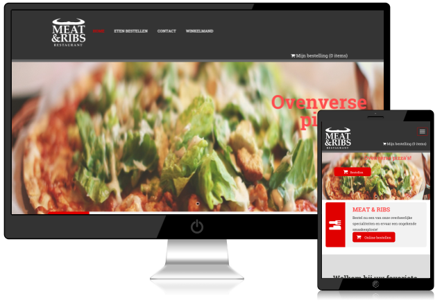 Oplevering restaurant bestel website: Meat & Ribs